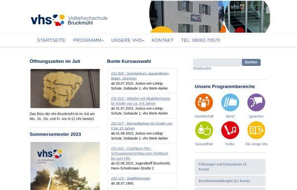 Vorschau von www.vhs-bruckmuehl.de, Volkshochschule Bruckmühl (vhs)
