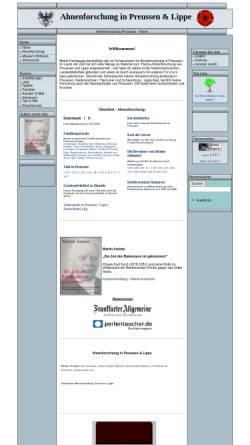 Vorschau der mobilen Webseite www.arendi.de, Ahnenforschung in Preussen & Lippe - Martin Arends