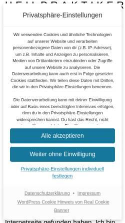 Vorschau der mobilen Webseite www.heilpraktikerin-bremen.de, Elke Janz