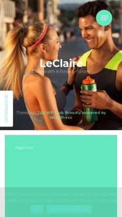Vorschau der mobilen Webseite www.heilpraktiker-leclaire.de, Joachim Leclaire