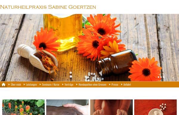 Vorschau von www.heilpraktikerin-goertzen.de, Sabine Goertzen
