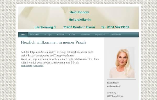 Vorschau von www.naturheilpraxis-bonow.de, Heidi Bonow