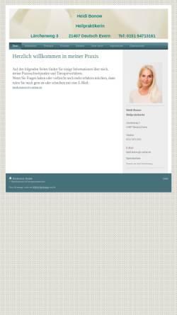 Vorschau der mobilen Webseite www.naturheilpraxis-bonow.de, Heidi Bonow