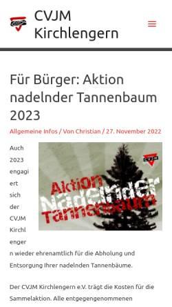 Vorschau der mobilen Webseite www.cvjm-kirchlengern.de, CVJM Kirchlengern