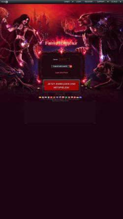 Vorschau der mobilen Webseite www.monstersgame.de, MonstersGame