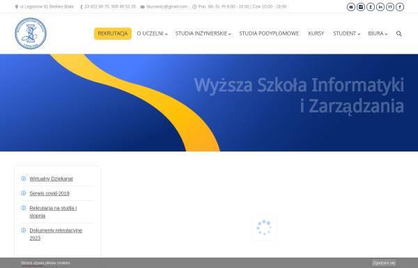 Vorschau von www.wsi.edu.pl, Hochschule für Informatik und Management
