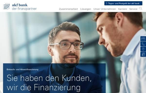 Vorschau von www.akf.de, AKF Bank GmbH & Co. KG