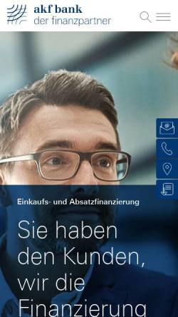 Vorschau der mobilen Webseite www.akf.de, AKF Bank GmbH & Co. KG