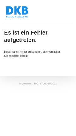 Vorschau der mobilen Webseite www.dkb.de, Deutsche Kreditbank AG
