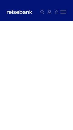 Vorschau der mobilen Webseite www.reisebank.de, ReiseBank AG