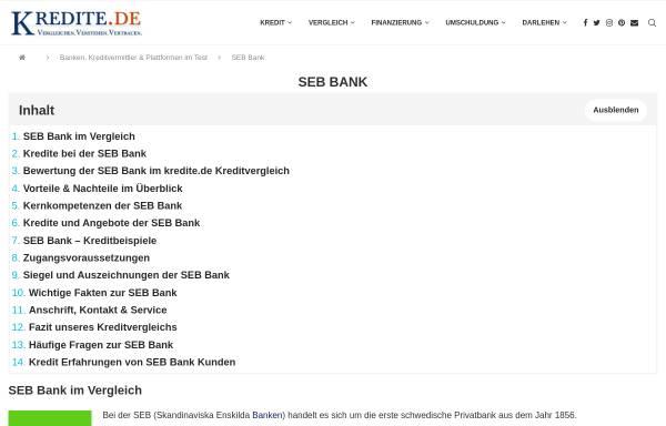 Vorschau von www.seb-bank.de, SEB AG