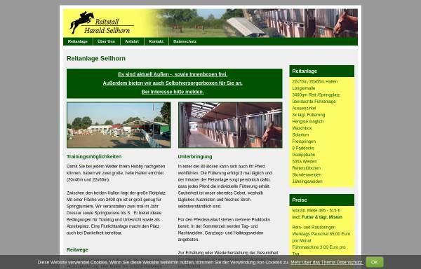 Vorschau von www.reitanlage-sellhorn.de, Reitanlage Sellhorn