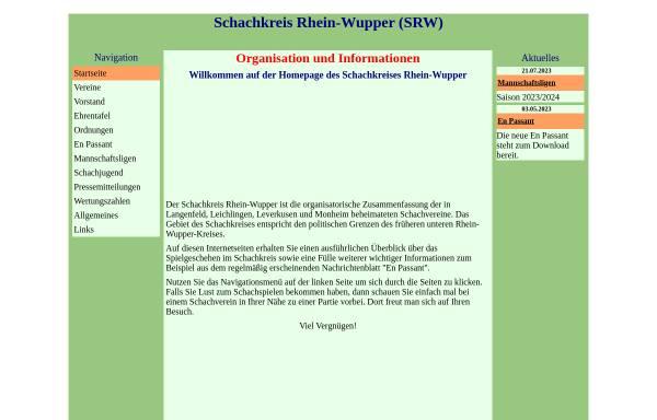 Vorschau von www.schachkreis-rhein-wupper.de, Schachkreis Rhein-Wupper