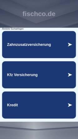 Vorschau der mobilen Webseite www.fischco.de, Tauchbasis fisch&co in Valle Gran Rey