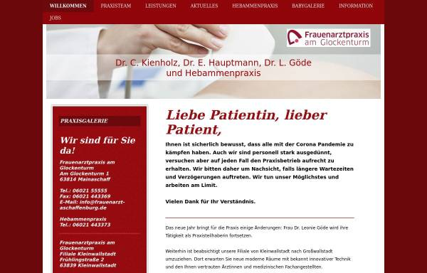 Vorschau von www.frauenarzt-aschaffenburg.de, Frauenarzt Dr. Kienholz
