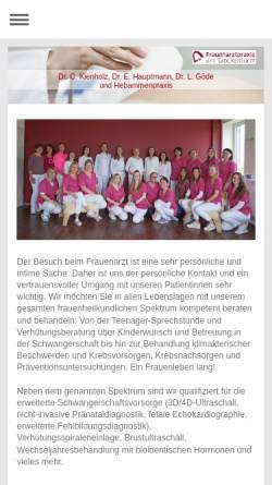 Vorschau der mobilen Webseite www.frauenarzt-aschaffenburg.de, Frauenarzt Dr. Kienholz