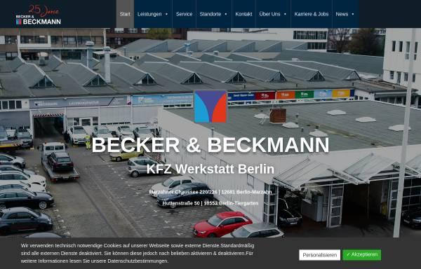 Vorschau von www.becker-beckmann.de, Becker & Beckmann GmbH