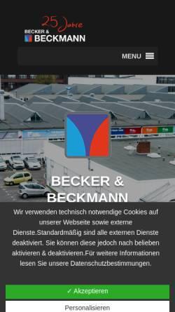 Vorschau der mobilen Webseite www.becker-beckmann.de, Becker & Beckmann GmbH