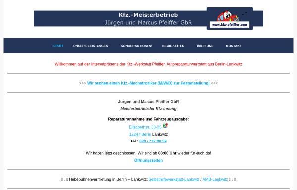 Vorschau von www.kfz-pfeiffer.com, Kfz-Werkstatt Pfeiffer in Berlin Lankwitz