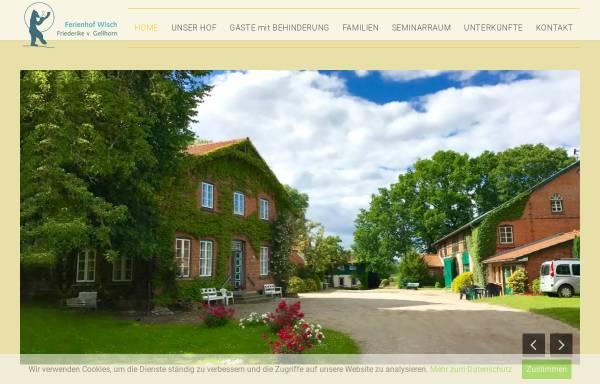 Vorschau von www.ferienhof-wisch.de, Seminarhaus und Ferienhof Wisch
