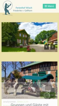 Vorschau der mobilen Webseite www.ferienhof-wisch.de, Seminarhaus und Ferienhof Wisch