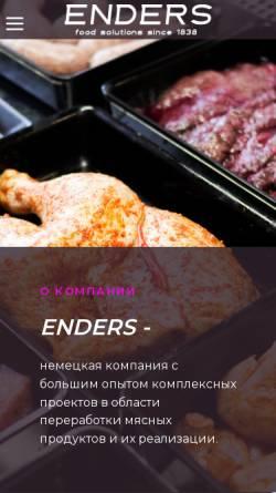 Vorschau der mobilen Webseite www.enders.de, Enders GmbH & Co.KG