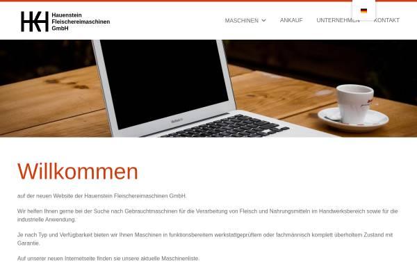 Vorschau von www.hauenstein-gmbh.de, Fleischereimaschinen Hauenstein GmbH