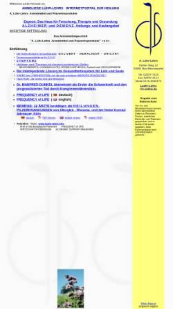 Vorschau der mobilen Webseite www.luehr-lehrs.de, A. Lühr-Lehrs Arzneimittel