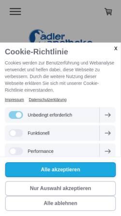 Vorschau der mobilen Webseite www.aar.de, Aar Pharma Naturarzneimittel