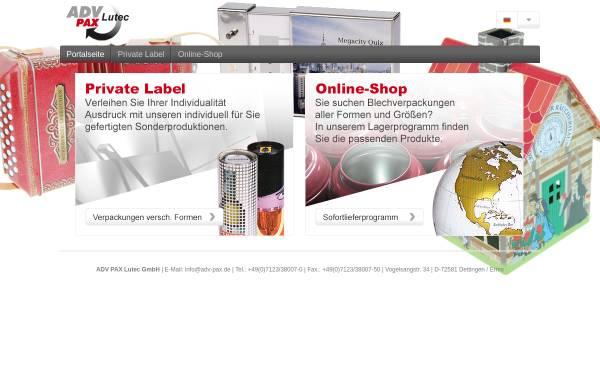Vorschau von www.adv-pax.de, ADV Pax Lutec GmbH