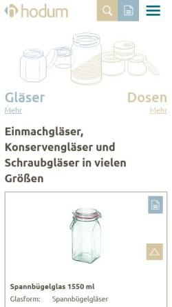 Vorschau der mobilen Webseite www.hodum.com, Hodum GmbH