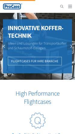 Vorschau der mobilen Webseite www.procase.de, LTB GmbH - ProCase