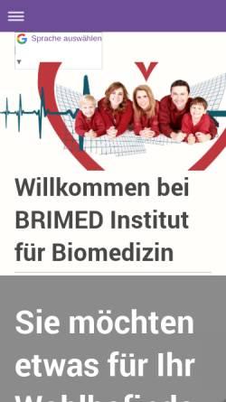 Vorschau der mobilen Webseite www.brimed.de, Brimed Institut für Biomedizin