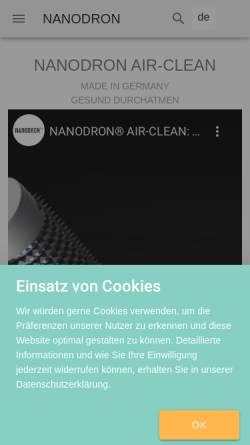 Vorschau der mobilen Webseite www.casadron.de, Casadron - Rudolf Gutmann Gesundheitstechnologie