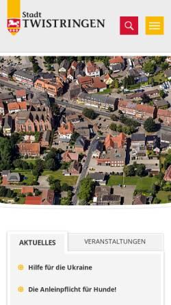 Vorschau der mobilen Webseite www.wandersocken.twistringen.de, Die Wandersocken aus Twistringen
