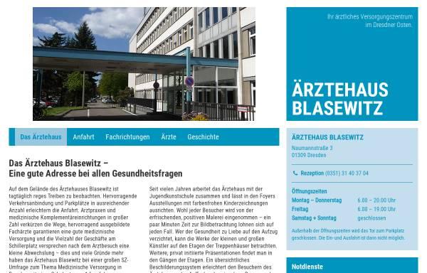 Vorschau von www.aerztehaus-blasewitz.de, Ärztehaus Blasewitz