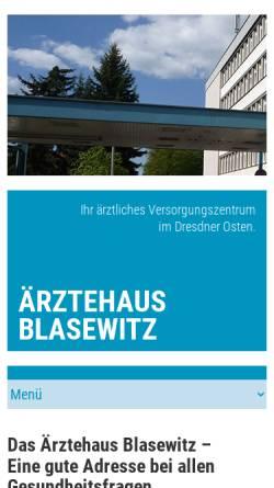 Vorschau der mobilen Webseite www.aerztehaus-blasewitz.de, Ärztehaus Blasewitz