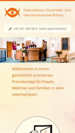 Vorschau der mobilen Webseite www.hebammenpraxis-buehlau.de, Hebammenpraxis (Bühlau)