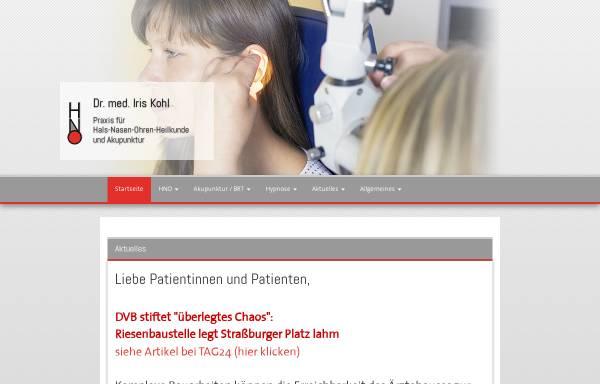 Vorschau von www.dr-kohl.de, HNO - Praxis Dr. med. Iris Kohl (Altstadt)