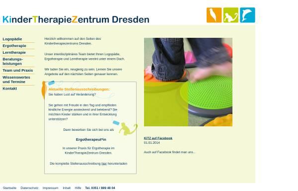 Vorschau von www.kindertherapiezentrum-dresden.de, Kindertherapiezentrum Dresden Jana Christoph und Reja Huhn GbR