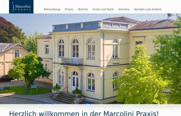 Vorschau von marcolini-praxis.de, Marcolini Praxisklinik (Radeberger Vorstadt)