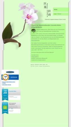Vorschau der mobilen Webseite www.naturheilkunde-hintz.de, Praxis für Naturheilkunde Hintz (Löbtau)