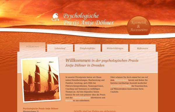 Vorschau von www.antje-doehner.de, Psychologische Praxis Antje Döhner