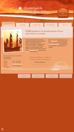 Vorschau der mobilen Webseite www.antje-doehner.de, Psychologische Praxis Antje Döhner