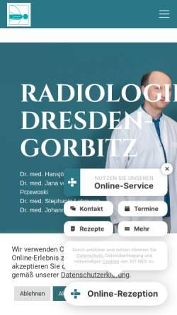 Vorschau der mobilen Webseite www.radiologie-dresden-gorbitz.de, Radiologie-Gorbitz