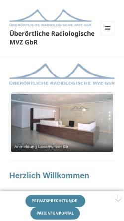 Vorschau der mobilen Webseite www.roentgen-dresden.de, Radiologische Gemeinschaftspraxis (Blasewitz)