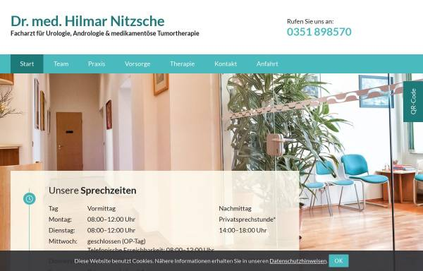 Vorschau von www.urologie-drnitzsche.de, Urologische Praxis Dr.med. Hilmar Nitzsche