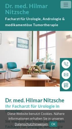 Vorschau der mobilen Webseite www.urologie-drnitzsche.de, Urologische Praxis Dr.med. Hilmar Nitzsche