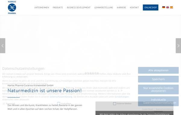 Vorschau von www.harraspharma.de, Harras Pharma Curarina