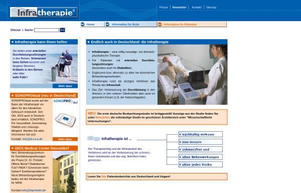 Vorschau von infratherapie.de, Infratherapie GmbH